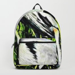 Heron Standing Signed Backpack