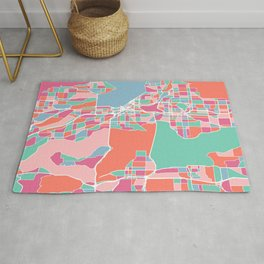 Seattle City Map Rug