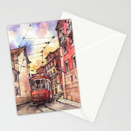 Lisbon ink & watercolor illustration Stationery Cards