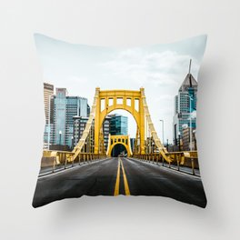 Pittsburgh Skyline Throw Pillow