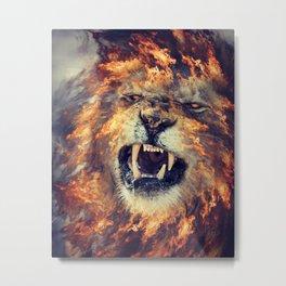 Mane of Fire Metal Print