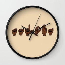 UrbanNesian Talofa Sign Language Wall Clock
