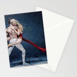 A Step of Two at the Bolshoi, Ballet a pas de deux portrait Stationery Cards