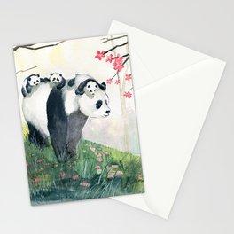 Panda family Stationery Cards