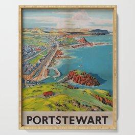 Portstewart Vintage Travel Poster Serving Tray