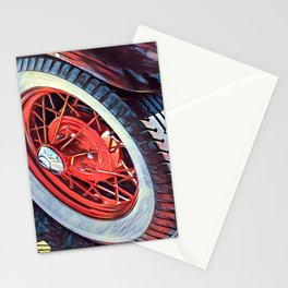 Sexy Model T Wheel Stationery Cards