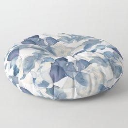 Blue Leaves Pattern Floor Pillow