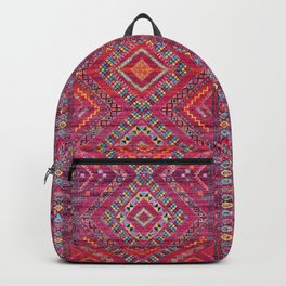 N118 - Pink Colored Oriental Traditional Bohemian Moroccan Artwork. Backpack