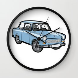 German Trabant DDR Oldtimer Youngtimer Classic Car Wall Clock