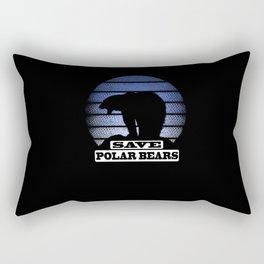 Save  Polar bears Arctic maritime bear Rectangular Pillow