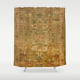 Persian 19th Century Authentic Colorful Muted Green Yellow Blue Vintage Patterns Shower Curtain