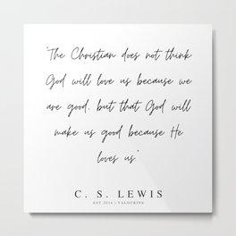 13      200320    C.S Lewis Quotes Metal Print