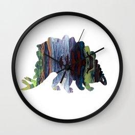 Stegosaurus art Wall Clock