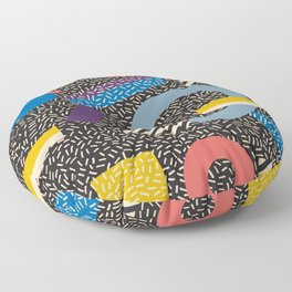 Memphis Inspired Pattern 4 Floor Pillow