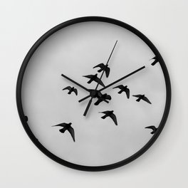 birds flying away Wall Clock