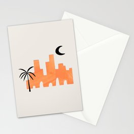 Minimalist Minimal Mid Century Abstract Middle Eastern Ancient Ruins Palm Tree Moon Ejaaz Haniff Stationery Cards