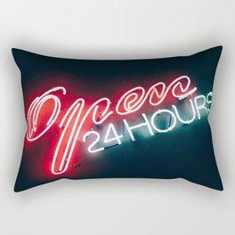 Open 24 hours Rectangular Pillow