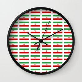 flag of iran 2- Persia, Iranian,persian, Tehran,Mashhad,Zoroaster. Wall Clock