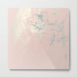 Patina blush pink gold Metal Print