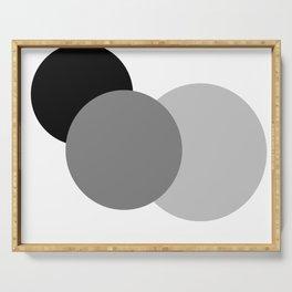 Gray White Black : Mod Circles Serving Tray
