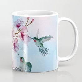 Cherry Blossom and Hummingbirds Coffee Mug