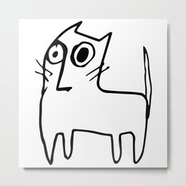 A mangy, miffed and slightly damaged cat Metal Print