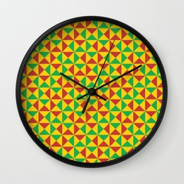 Afro Kente Cloth 3 Wall Clock