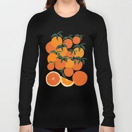 Orange Harvest - White Langarmshirt