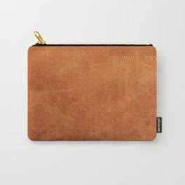 Farmhouse Style Original Camel Leather Oriental Design. Carry-All Pouch