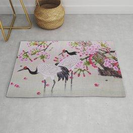 Chinese - Crane and Sakura Rug