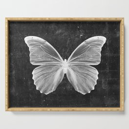 Butterfly in Black Serving Tray