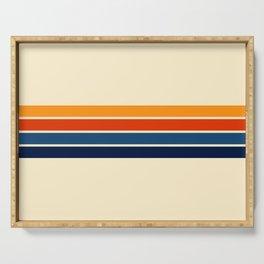 Classic Retro Stripes II Serving Tray