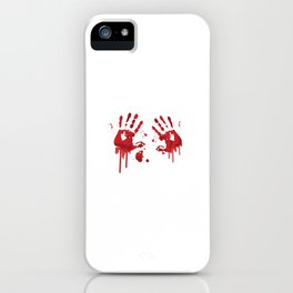 Bloody handprints iPhone Case