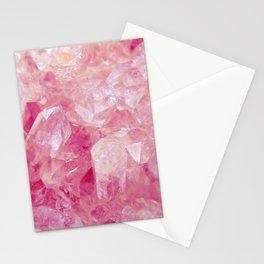 Pink Rose Quartz Crystal Stationery Cards