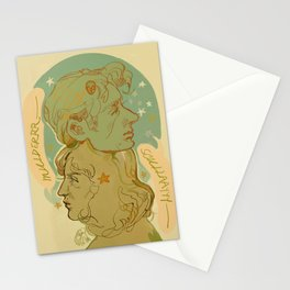spooky platonic partners Stationery Cards