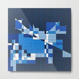 the blue dog Metal Print