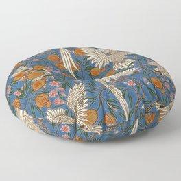 Cockatoos and Pomegranates 2 - Walter Crane Floor Pillow