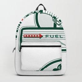 Crossed Fuel Nozzle Gas Pump Retro Backpack