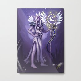 An Elven Noble Metal Print