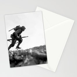 Battle Of Okinawa Painting Stationery Cards