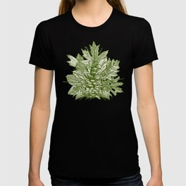 forest floor green ivory T-shirt