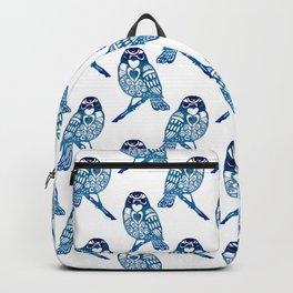 Watercolour Blue Bird Backpack