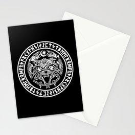 Viking Fenrir Emblem - Wolf Norse Mythology Stationery Cards