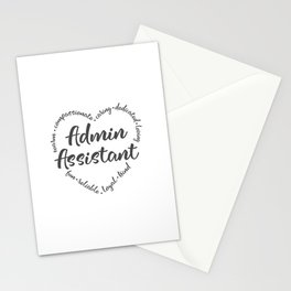 Admin, Administrative assistant, asst Stationery Cards
