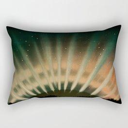 Aurora Night Sky Stars Vintage Landscape Rectangular Pillow