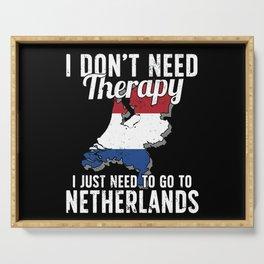Netherlands flag I Dutch Souvenirs Serving Tray
