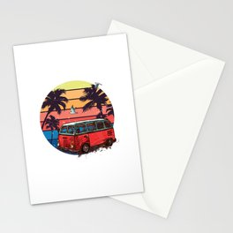 Van on the Beach Stationery Cards
