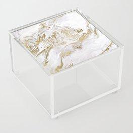 Liquid gold marble II Acrylic Box