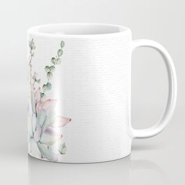 Succulents Mint and Purple by Nature Magick Coffee Mug