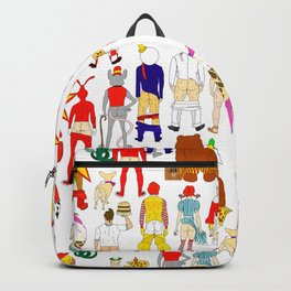 Fast Food Butts Pattern Backpack